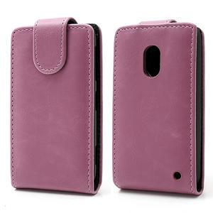 Flipové puzdro na Nokia Lumia 620- růžové - 1