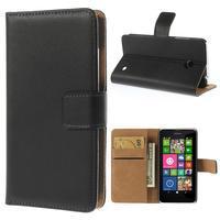 Peňaženkové puzdro na Nokia Lumia 630- čierné - 1/7