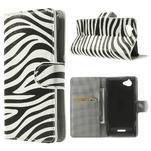 Peňaženkové puzdro na Sony Xperia L C2105 - zebrovité - 1/7