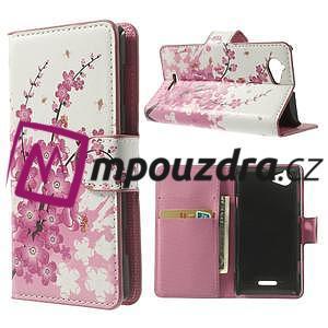 Peňaženkové puzdro na Sony Xperia L C2105- kvetoucí větvička - 1