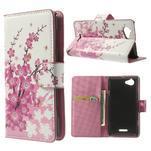 Peňaženkové puzdro na Sony Xperia L C2105- kvetoucí větvička - 1/7