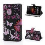 Peňaženkové puzdro na Sony Xperia Z C6603 - motýlci - 1/7