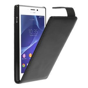 Flipové puzdro na Sony Xperia M2 D2302 - čierné - 1