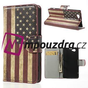 Peňaženkové puzdro pre Sony Xperia Z1 Compact D5503 - USA vlajka - 1