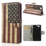 Peňaženkové puzdro pre Sony Xperia Z1 Compact D5503 - USA vlajka - 1/7