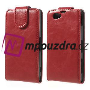 Flipové pouzdro na Sony Xperia Z1 Compact D5503 - červené - 1