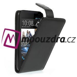 Flipové Cover kožené puzdro pre HTC Desire 310- čierné - 1