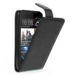 Flipové Cover kožené puzdro na HTC Desire 310- čierné - 1/6