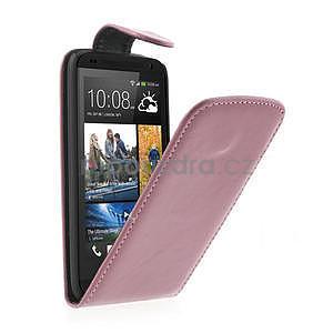 Flipové puzdro pre HTC Desire 601- růžové - 1