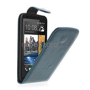 Flipové puzdro pre HTC Desire 601- modré - 1