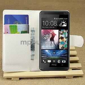 Peňaženkové puzdro pre HTC Desire 601- biele - 1