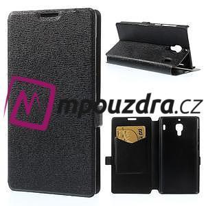 Peňaženkové  puzdro na Xiaomi Hongmi Red Rice- čierné - 1