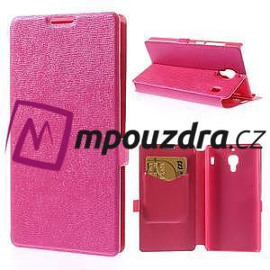 Peňaženkové puzdro na Xiaomi Hongmi Red Rice- růžové - 1