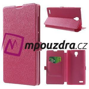 Peňaženkové puzdro na Xiaomi Hongmi Note- růžové - 1