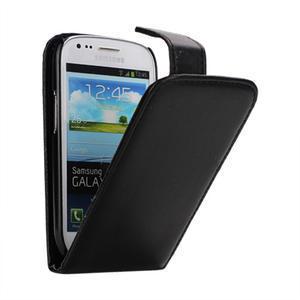 Flipové puzdro pro Samsung Galaxy S3 mini i8190- čierne - 1
