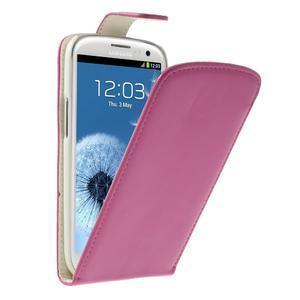 Flipové pozdro pre Samsung Galaxy S3 i9300 - ružová - 1