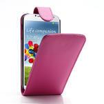 Flipové pouzdro pro Samsung Galaxy S4 i9500- růžové - 1/5