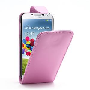 Flipové pouzdro pro Samsung Galaxy S4 i9500- světle-růžové - 1