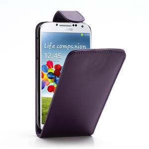 Flipové puzdro pro Samsung Galaxy S4 i9500-fialové - 1