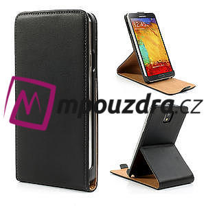 Flipové kožené puzdro na Samsung Galaxy Note 3- čierné - 1
