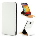 Flipové kožené puzdro na Samsung Galaxy Note 3- biele - 1/6