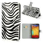 Peňaženkové  puzdro pre Samsung Galaxy Note 3- zebrované - 1/7
