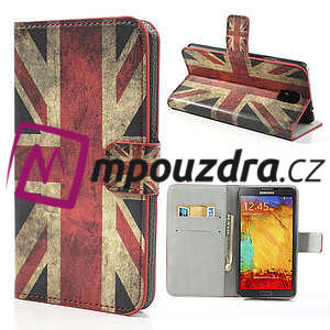 Peňaženkové  puzdro pre Samsung  Galaxy Note 3- UK vlajka - 1