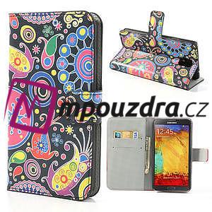 Peňaženkové puzdro na Samsung Galaxy Note 3- vzory - 1