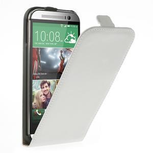 Flipové puzdro pre HTC one M8- biele - 1