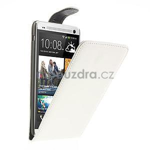 Flipové puzdro HTC one Max- biele - 1