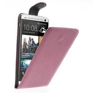 Flipové puzdro HTC one Max- růžové - 1