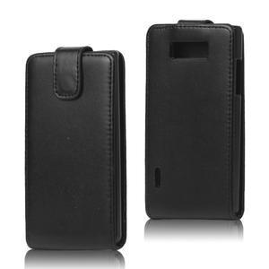 Flipové puzdro na LG Optimus L7 P700 - čierné - 1