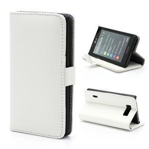 Peňaženkové puzdro na LG Optimus L7 P700 - biele - 1