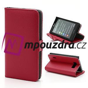 Peňaženkové puzdro na LG Optimus L7 P700 - červené - 1