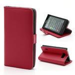 Peňaženkové puzdro na LG Optimus L7 P700 - červené - 1/7