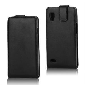 Flipové puzdro pre LG Optimus L9 P760 - čierné - 1
