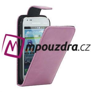 Flipové puzdro pre Samsung Trend plus, S duos -růžové - 1