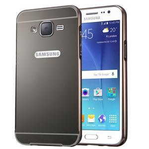 Odolný obal s kovovým obvodem na Samsung Galaxy J5 (2016) - černý - 1