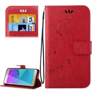 Magicfly PU kožené pouzdro na Samsung Galaxy J5 (2016) - červené - 1