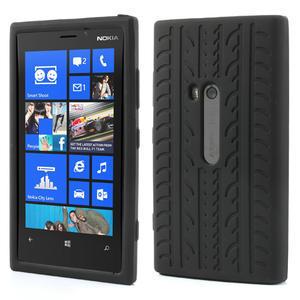 Silokonové PNEU puzdro na Nokia Lumia 920-čierné - 1