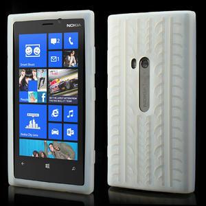 Silokonové PNEU puzdro na Nokia Lumia 920- biele - 1