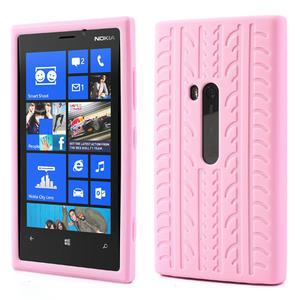 Silokonové PNEU puzdro na Nokia Lumia 920- světlerůžové - 1