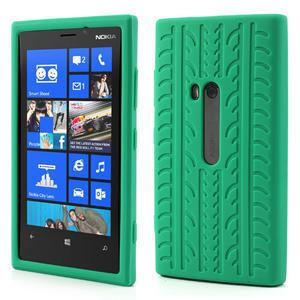 Silokonové PNEU puzdro na Nokia Lumia 920- zelené - 1