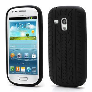 Silikonové PNEU pro Samsung Galaxy S3 mini i8190- černé - 1