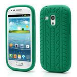 Silikonové PNEU pro Samsung Galaxy S3 mini i8190- zelené - 1/3