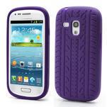 Silikonové PNEU pro Samsung Galaxy S3 mini i8190- fialové - 1/3