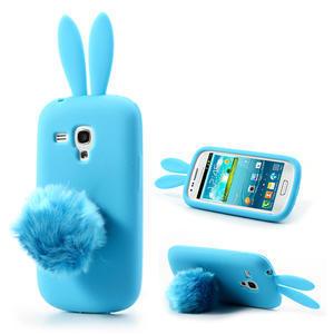 Silikonový králík pro Samsung Galaxy S3 mini i8190- modrý - 1