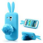 Silikonový králík pro Samsung Galaxy S3 mini i8190- modrý - 1/7