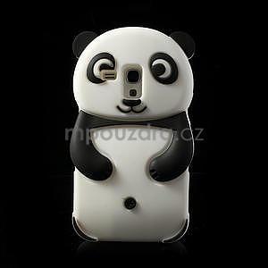 3D Silikonové puzdro pre Samsung Galaxy S3 mini / i8190 - vzor čierná panda - 1