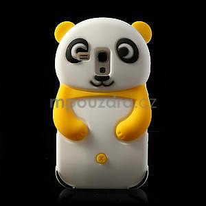3D Silikonové puzdro pre Samsung Galaxy S3 mini / i8190 - vzor žltá panda - 1
